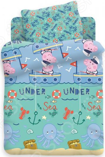 Ясельный комплект постельного белья Непоседа «Джордж рыбак» Непоседа - артикул: 1321005
