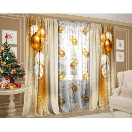 Купить Комплект: шторы и тюль ТамиТекс «Золотая нить»