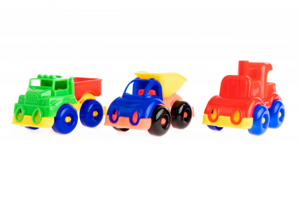 Набор машинок игрушечных Пластмастер «Малютка 3» пластмастер игрушечный набор валим лес
