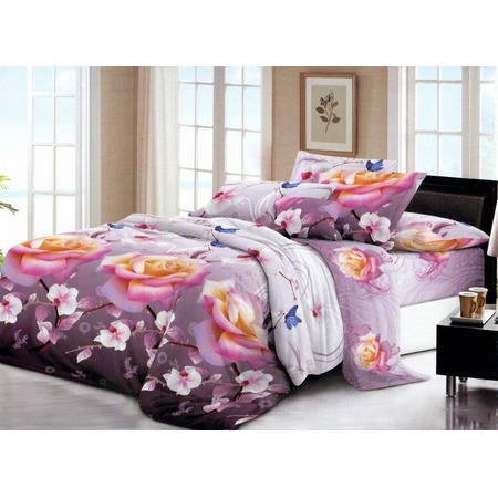 Комплект постельного белья «Бабочки в саду». Евро