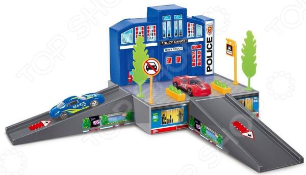 Набор игровой с машинкой Dave Toy «Полицейский участок»