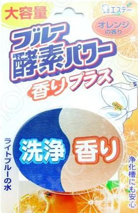 Таблетка для бачка унитаза ST Blue Enzyme Power с ароматом апельсина бытовая химия chirton чистящая таблетка для унитаза liaara лесная свежесть