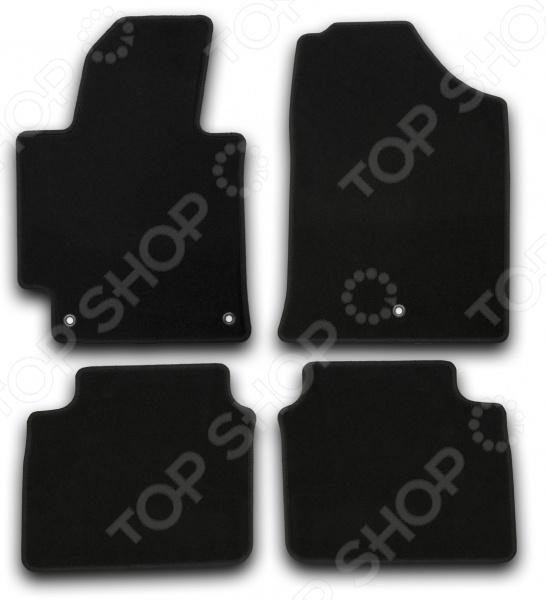 Комплект ковриков в салон автомобиля Klever Nissan Terrano 2014 Econom с/р автомобильный коврик klever premium для nissan qashqai 2014