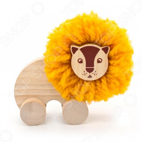 Набор развивающий для ребенка Мир Деревянных Игрушек «Помпон-Лев»