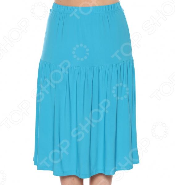 Юбка VEAS «Легкая». Цвет: голубой