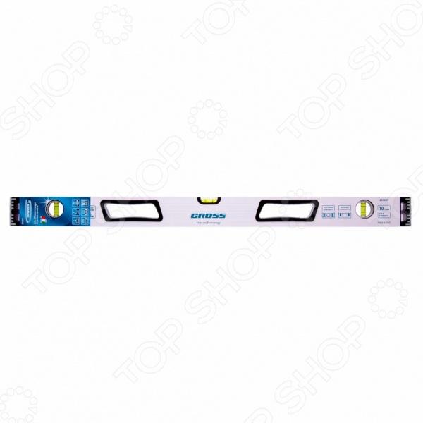 Уровень магнитный усиленный GROSS фрезерованный, 3 глазка, рукоятки магнитный уровень hesler 80 см 3 глазка
