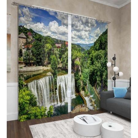 Купить Фотошторы Сирень «Водопад в городе»