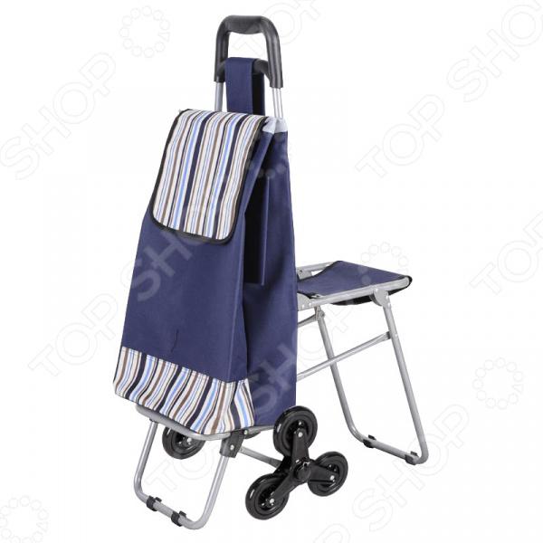 Сумка-тележка с сидением «Помощница» сумку тележку для продуктов