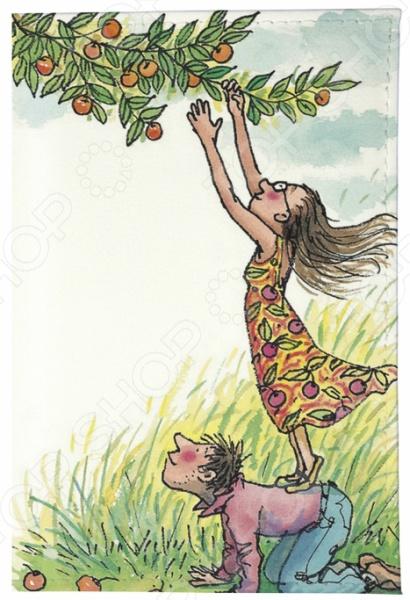 Обложка для паспорта кожаная Mitya Veselkov «День сбора яблок» обложка для автодокументов кожаная mitya veselkov день сбора яблок