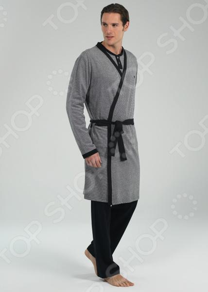 Халат мужской BlackSpade 7560 флисовый халат