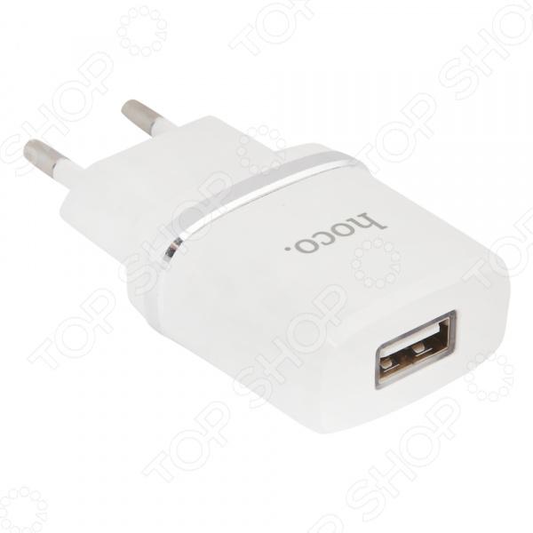 Устройство зарядное сетевое Hoco C11 Smart Dual USB Lighting сетевое зарядное устройство ldnio hoco c11 smart dual usb charger set usb 1 0a 0l 00037574 white