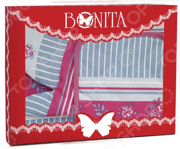 Набор кухонный: прихватка, варежка-прихватка и полотенце BONITA «Мэри Поппинс»