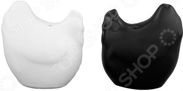Набор для специй Elan Gallery «Курочки черно-белые»