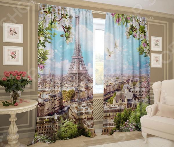 цена Фотошторы ТамиТекс «Солнечный Париж» онлайн в 2017 году