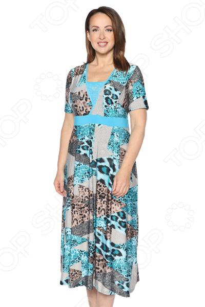 Платье Лауме-Лайн «Возвышенное чувство». Цвет: бирюзовый