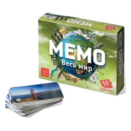 Купить Игра настольная развивающая для детей БЭМБИ «Мемо. Весь мир»