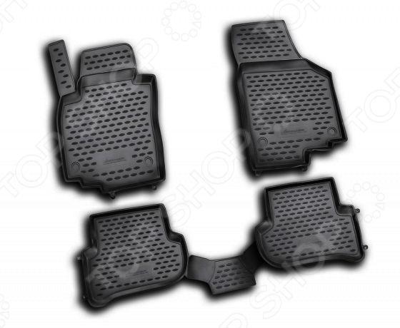 все цены на Комплект ковриков в салон автомобиля Novline-Autofamily Skoda Yeti 2009