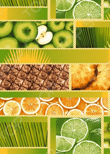 Полотенце кухонное вафельное ТексДизайн «Тропический остров» вафельное полотенце тропический остров банное размер 100х150 см