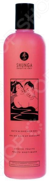 Гель для душа возбуждающий Shunga «Экзотические фрукты» массажная свеча shunga экзотические фрукты 170 мл