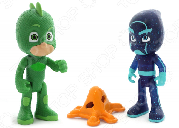 Набор фигурок игрушечных PJ Masks «Гекко и Ночной Ниндзя» плащ и маска гекко uni