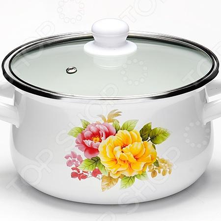 Кастрюля с крышкой Mayer&Boch «Весенние цветы» посуда кухонная