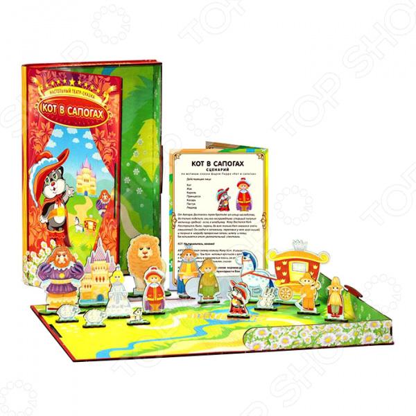 Игра настольная обучающая Полноцвет «Театр-сказка: Кот в сапогах»