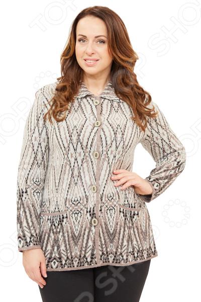 Жакет Milana Style «Созвездие». Цвет: коричневый