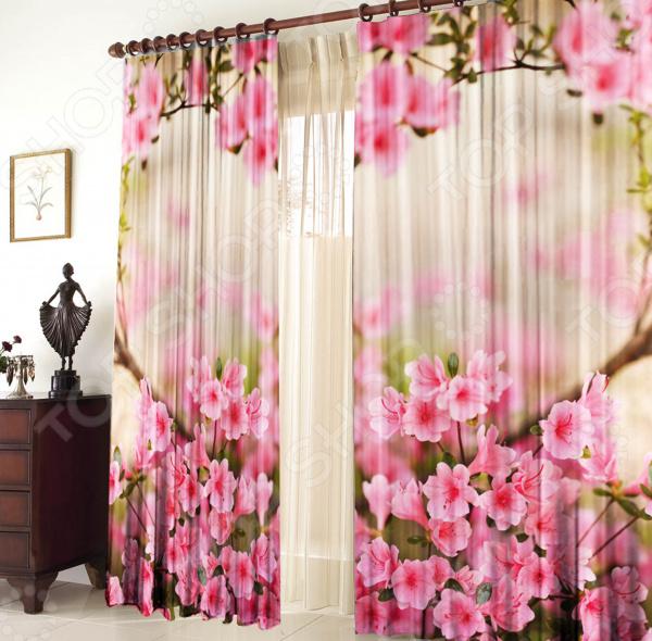 Шторы блэкаут ТамиТекс «Весенние цветы» шторы блэкаут в леруа мерлен на авиамоторной