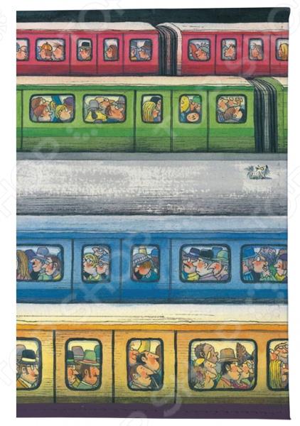 Обложка для паспорта Mitya Veselkov «Электрички» обложка для паспорта твой стиль цветы 2203 т5