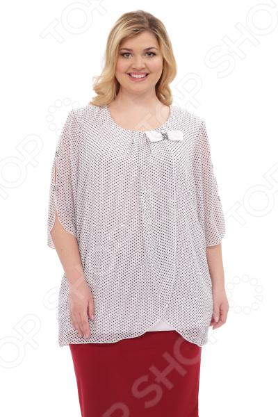 Туника Laura Amatti «Шарлота». Цвет: белый юбка laura amatti изабелина цвет бордовый