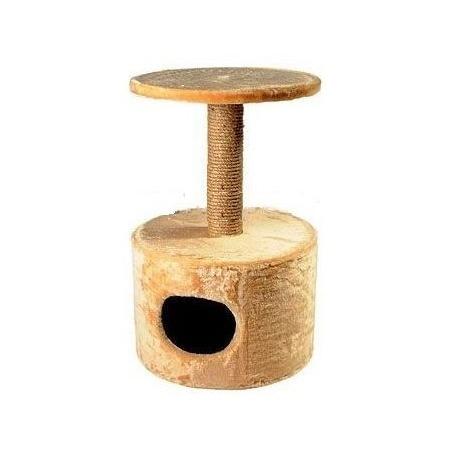 Домик для кошек ЗООНИК круглый с полочкой