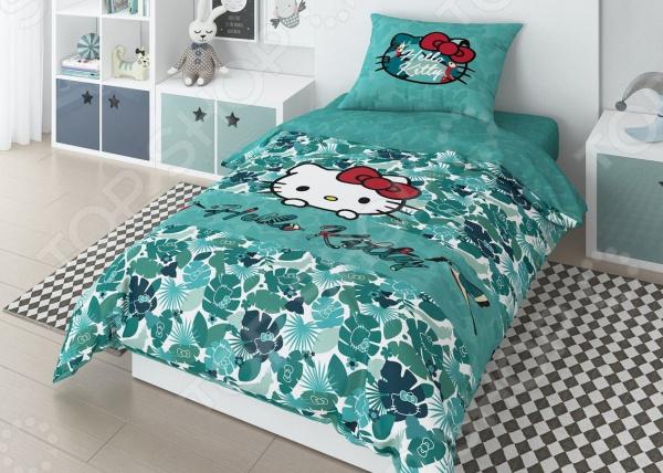 цена Детский комплект постельного белья Hello Kitty Tropic онлайн в 2017 году