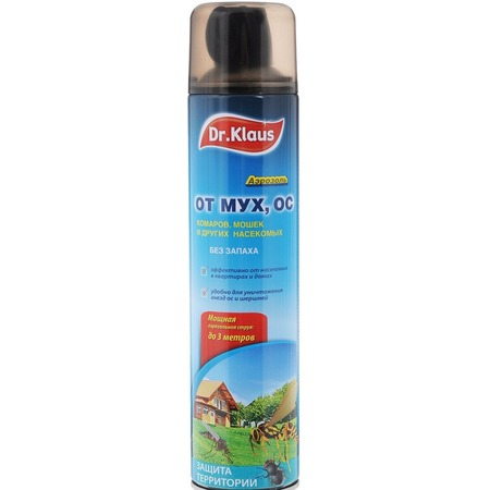 Купить Аэрозоль Dr.Klaus «Флай» от мух, ос и других насекомых
