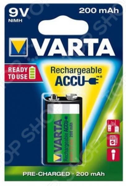 Батарея аккумуляторная VARTA 9V R2U 200 мАч горячая нет газ usb электронная аккумуляторная батарея непламено прикуривателя белый