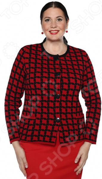 Жакет Milana Style «Осенний вальс». Цвет: красный жакет milana style хрустальная роса цвет джинсовый