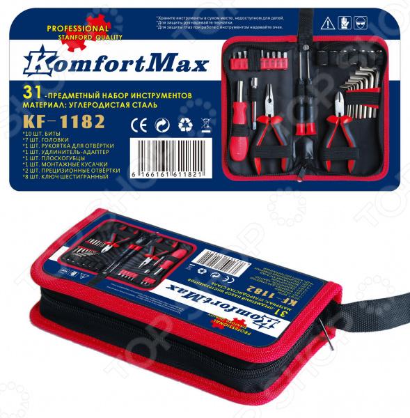Набор инструментов KomfortMax KF-1182 набор инструмента komfortmax 108 предметов kf 992