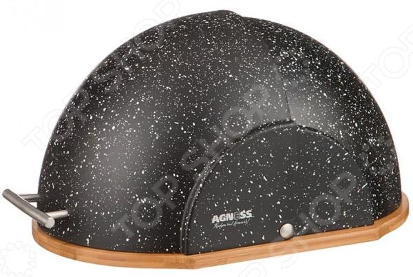 Хлебница Agness «Черный мрамор» 938-013
