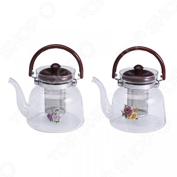 Чайник заварочный Wellberg Borosil. В ассортименте
