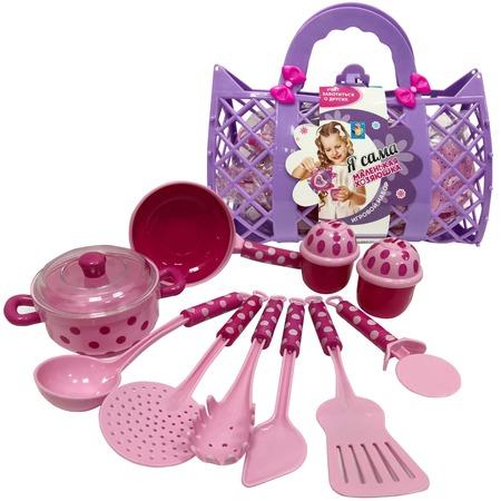 Купить Набор посуды игрушечный 1 Toy «Маленькая хозяюшка» Т11640