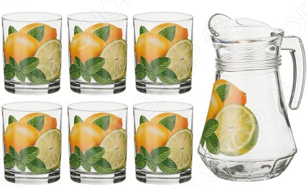 Набор: кувшин и 6 стаканов «Лимоны»