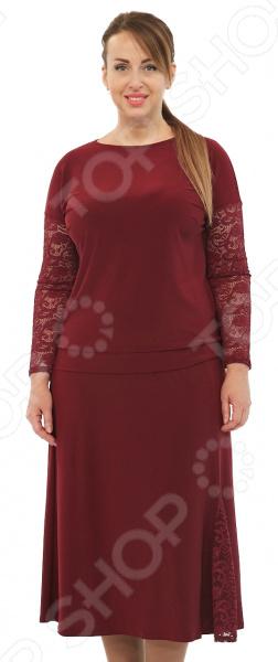 Костюм Laura Amatti «От кутюр». Цвет: бордовый юбка laura amatti изабелина цвет бордовый