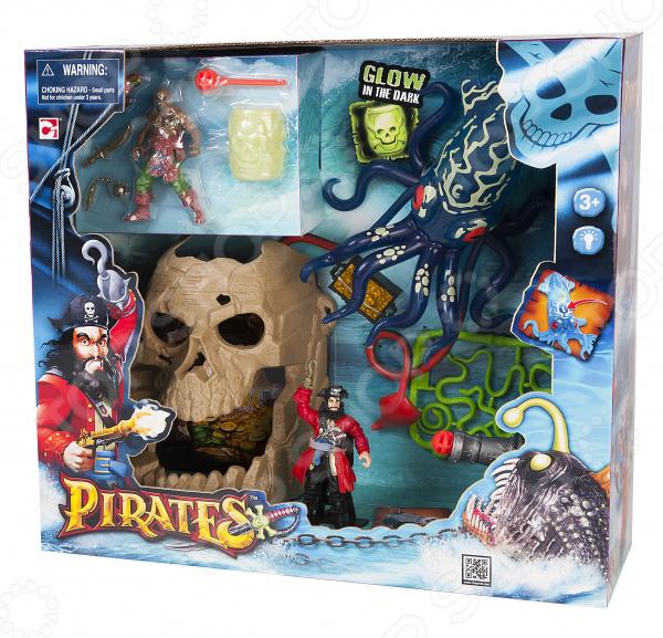Игровой набор с фигурками Chapmei «Пираты: Битва с гигантским кальмаром»