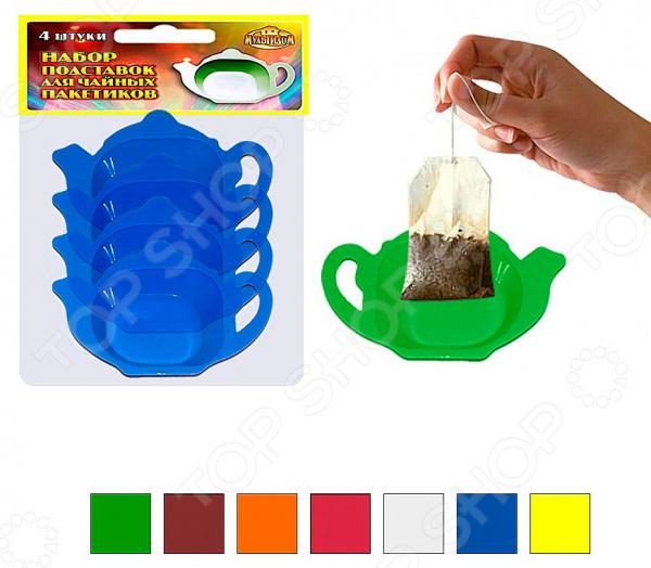 Набор подставок для чайных пакетиков Мультидом МП76-2. В ассортименте поглотитель запаха для холодильника мультидом свежесть j80 160 в ассортименте
