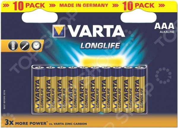 Элемент питания VARTA Longlife AAA 10 шт.
