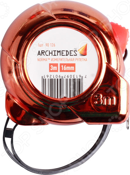 Рулетка Archimedes 90126 рулетка archimedes автостоп 3 м х 16 мм