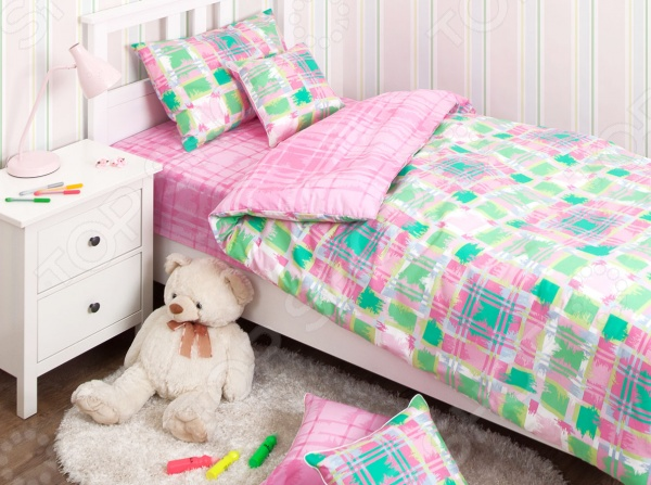 Детский комплект постельного белья Хлопковый Край Geometry pink