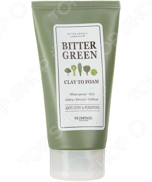 Пенка для умывания очищающая SKINFOOD Bitter Green Clay