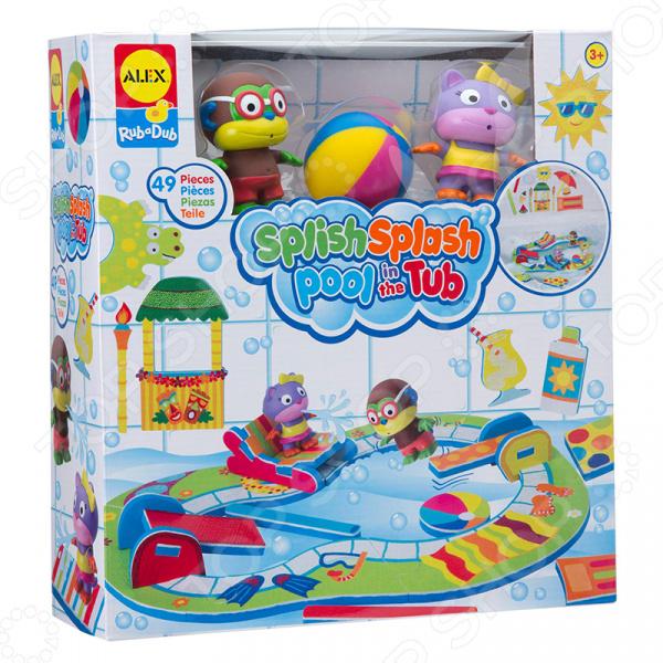 Набор детских игрушек для ванны Alex «Пляжная вечеринка» игрушки для ванной alex набор игровой для ванны вымой щенка