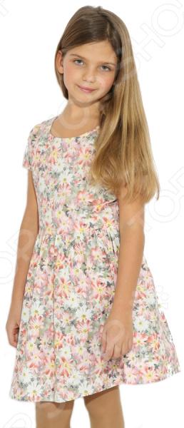Платье для девочки Finn Flare Kids KB17-71025B. Цвет: хаки
