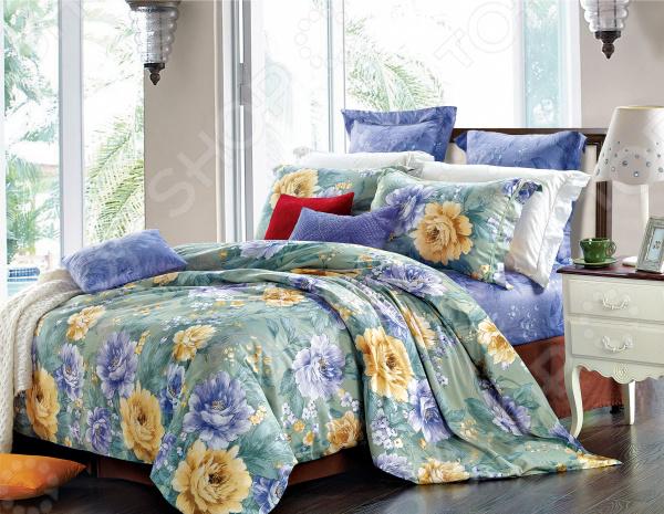 Комплект постельного белья La Noche Del Amor А-618 комплект белья la noche del amor евро наволочки 70х70 цвет сиреневый темно бирюзовый светло коричневый а 618 200 240 70